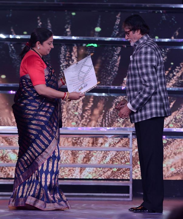 FB 1815 - A most humbling evening at the IFFI awards .. honoured and filled with such gratefulness to IFFI and the extremely endearing words by Akshay Kumar, Karan, and the dignitaries .. मेरा आभार , स्नेह