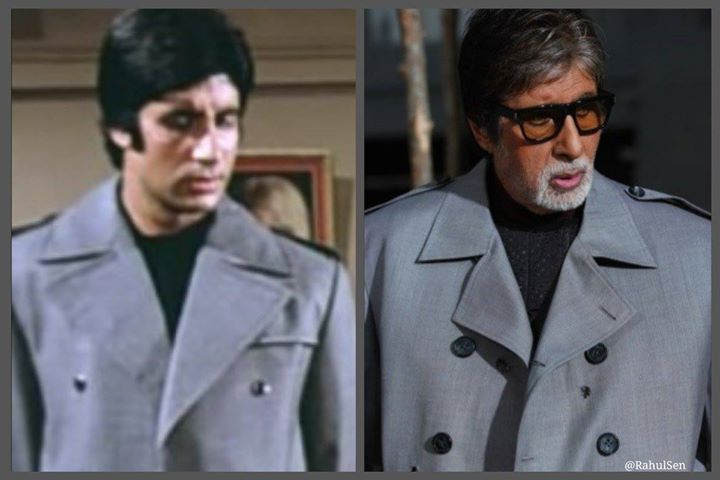 FB 1920 - SIMILARITY .. 37 years ago I wore a jacket in my film 'Barsaat ki ek Raat' .. and a few days back for an ad., shoot i wore a similar jacket .. Discovered by Ef Moses Sapir