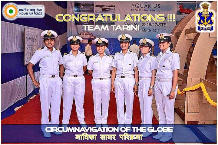 FB 2013 -- CONGRATULATIONS ..!! filled with pride .. the Indian Women's team circumnavigate the globe !! this is no mean feat .. thank you the daughters of INDIA .. you have made INDIA look the greatest ! SALUTE !  भारत माता की जय !!! 🇮🇳🇮🇳🇮🇳🇮🇳🇮🇳🇮🇳🇮🇳🇮🇳🇮🇳🇮🇳🇮🇳🇮🇳🇮🇳🙏🙏🙏🙏🙏
