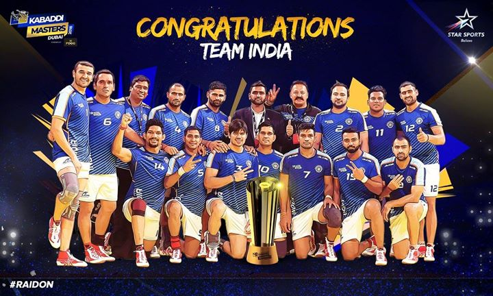 FB 2053 -  - YEEEAAAAHHHH !! CONGRATULATIONS India .. beat Iran to win #KabaddiMasters in the FINAL .. India CHAMPIONS !!!🇮🇳🇮🇳🇮🇳🇮🇳🇮🇳🇮🇳🇮🇳