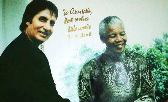 FB 2071 -  Nelson Mandela Day - on one occasion , he saw me across a street at a common event and waved to me and said -