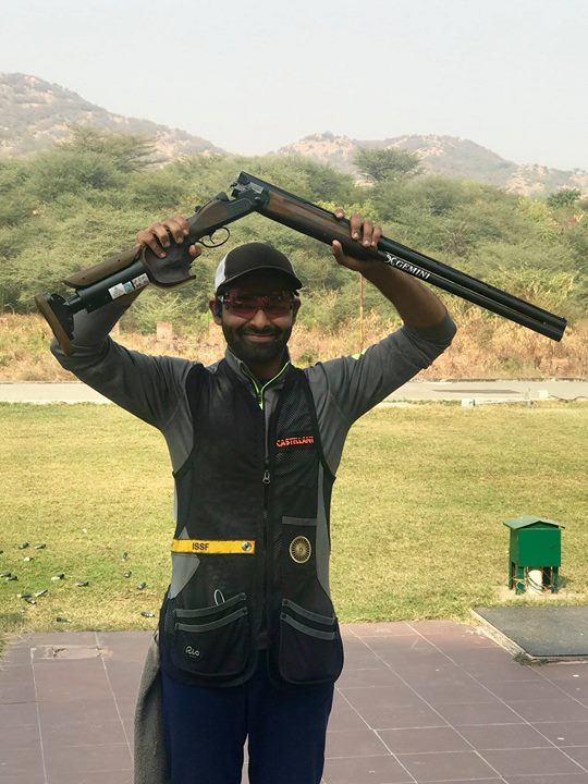 FB 2215 - CONGRATULATIONS !!! Angad !  Angad wins National Championship in Skeet held at Jaipur.  title  National Champion Skeet - 2018 Son of Sukhpal Singh Bajwa, Class of 1958 Sherwood College , Nainital ; my classmate and a now a very proud Father ..  Well done Baj !!