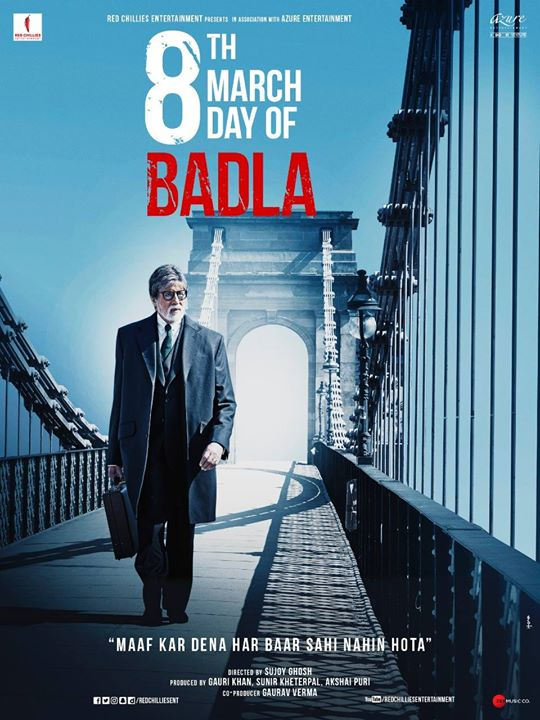 Bas issi ka toh intezaar tha producer ji Shah Rukh Khan! Bridging the  gap between the truth and the lie, my personal favourite Badla poster,  bahot khoob!  #4DaysToBadla  #BadlaUnpluggedEp1: bit.ly/Unplugged_Episode1Badla  Taapsee Pannu Sujoy Ghosh Red Chillies Entertainment Azure Entertainment