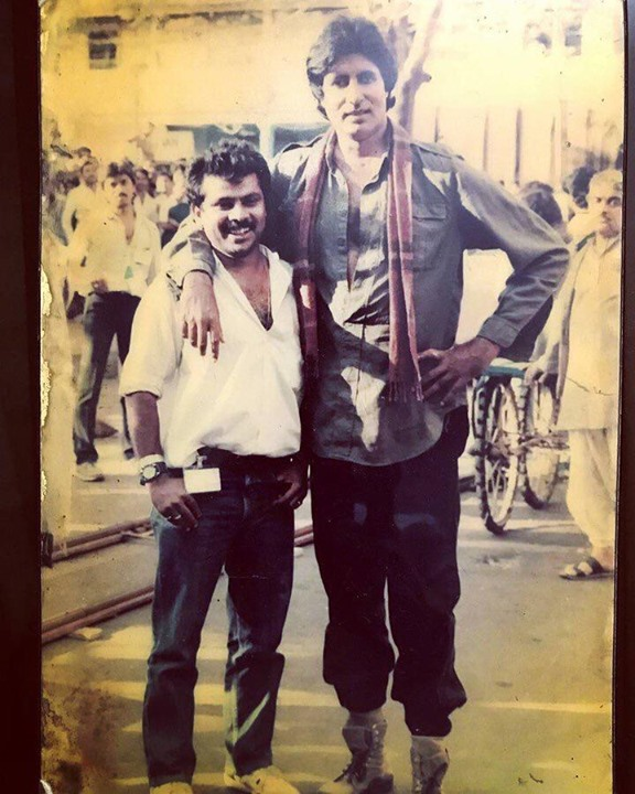 FB 2366 - Time warp .. then and now !!  Then DOP asst., on film 'Main Azaad Hoon' shoot of song 'itne baazu..' in Goa ..  Now DOP asst ., on film 'Chehre' shoot .. SAME GUYS .. HE AND ME ..! some hair has been lost .. some grown ..
