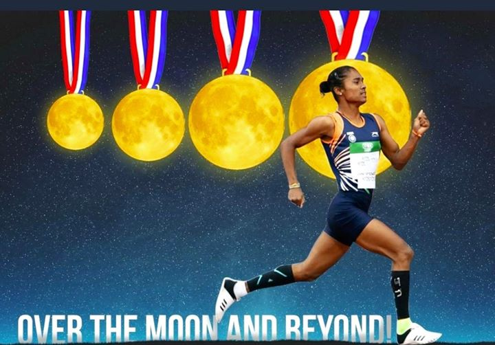 FB 2453 - - Hima Das .. the pride of India .. to the Moon and beyond .. indeed but we need to add another Moon for she has done 5 now .. AMAZING !!🇮🇳🇮🇳🇮🇳🇮🇳🇮🇳👍👍👍👏👏👏👏👏