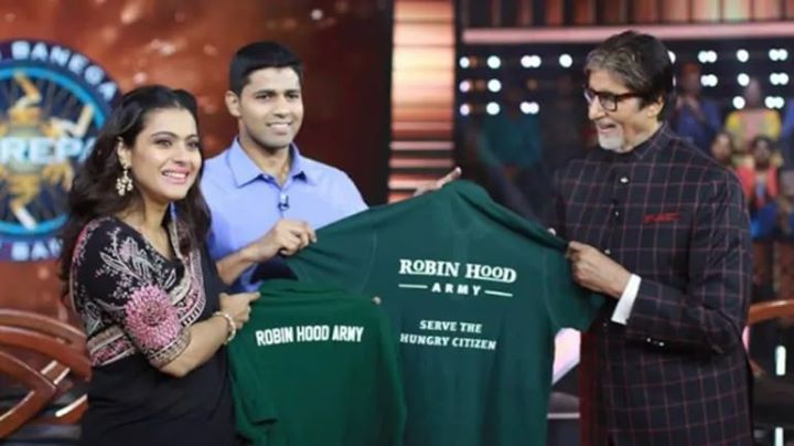 FB 2828 -  Wishing Neel and his ROBIN HOOD ARMY ( RHA ) my best wishes for their incredible work in feeding the hungry .. It was a delight to have you on KBC and now my very best for .. CoVid Fightback - #Mission30M .. ❤️🙏🌹👏👏