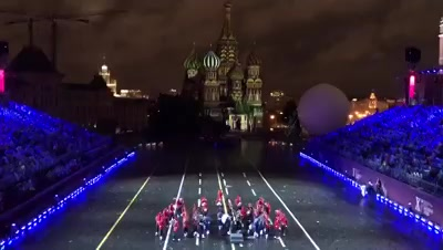 FB 2055 - This is Moscow Russia .. band playing 'saare jahan se achcha' .. wait for it