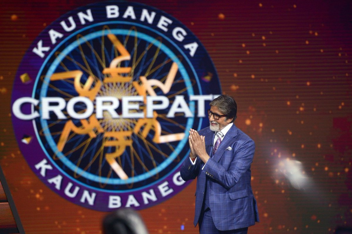 T 3293 - ... and the day endeth with an invite by Sony Television to come over for a celebration .. a success celebration .. for it has become the No 1 channel this week .. and KBC the No 1 programme in the non fiction section My congratulations to Team  KBC https://t.co/uzAiwsnEmo